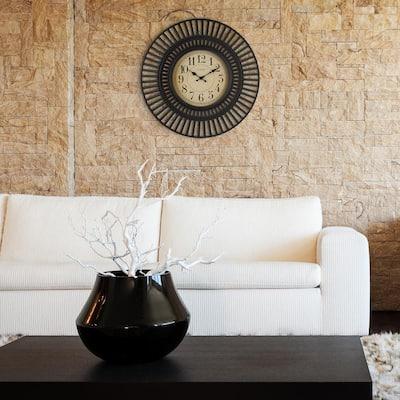 20 in. Covington Black Quartz Analog Wall Clock