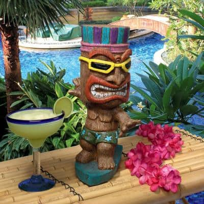13.5 in. H Kahuna Tiki Surfer Dude Statue