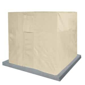 Beige Air Condition Heavy-Duty Weatherproof Protector Cover