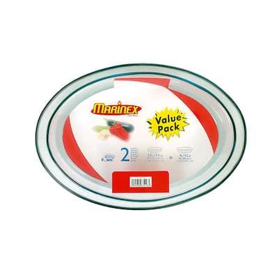 Terrina 2-Piece Oval Glass Roaster Set - Shrink Wrapped
