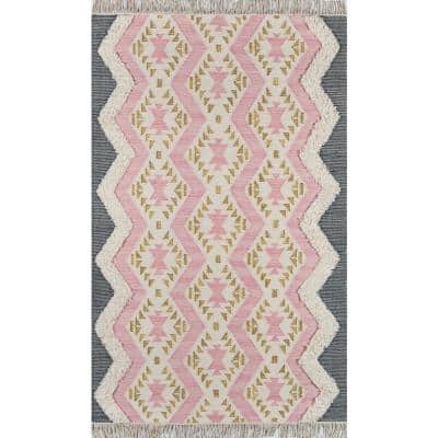 Indio Beverly Pink 3 ft. x 5 ft. Area Rug