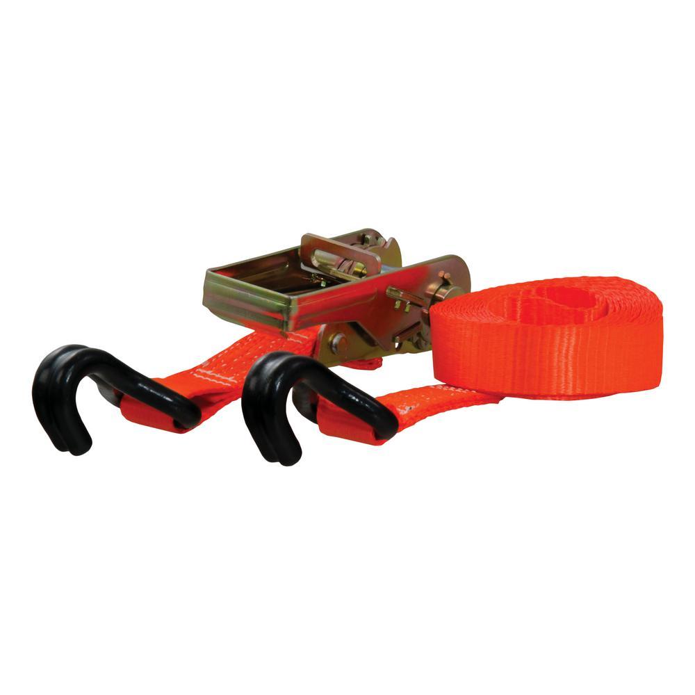 16' Orange Cargo Strap with J-Hooks (1,100 lbs.)