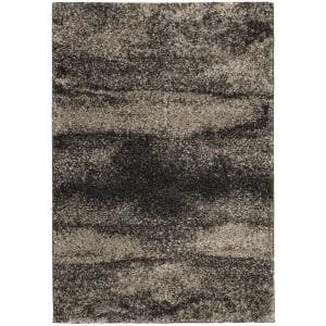 Stormy Charcoal 2 ft. x 3 ft. Abstract Scatter Area Rug