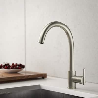 Single-Handle Bar Faucet in Brushed Nickel