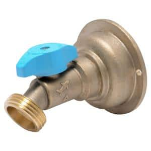 3/4 in. Brass Push-to-Connect x MHT Quarter-Turn No Kink Hose Bibb