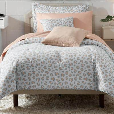 Millar Leopard Twin/Twin XL Bed in a Bag Comforter Set with Sheets and Decorative Pillows