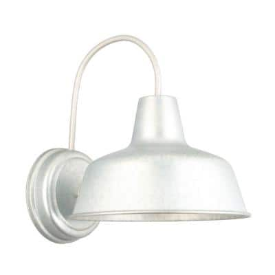 Mason 1-Light Galvanized Outdoor Wall Light Sconce