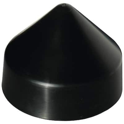 11 in. Cone Head Piling Cap, Black