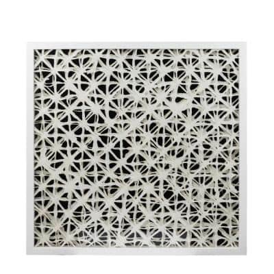 Cotoure 24 in. White and Black Framed Wall Art
