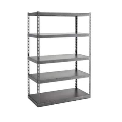 5-Tier Steel Garage Storage Shelving Unit with EZ Connect (48 in. W x 72 in. H x 24 in. D)