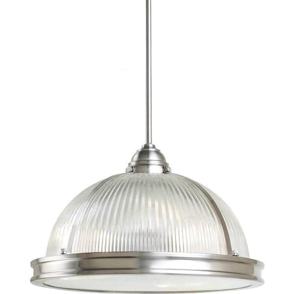 Sea Gull Lighting - Pratt Street Prismatic 3-Light Brushed Nickel Pendant