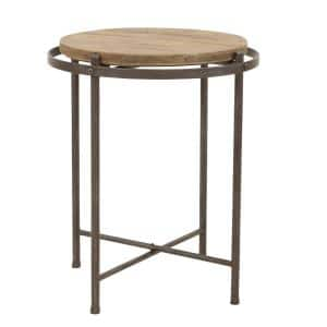 Patton Distressed Gray Industrial Accent Table