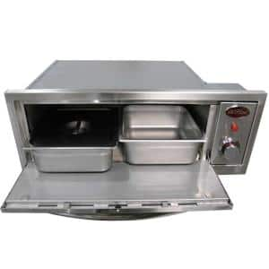 2-in-1 Drop-In Stainless Steel Propane Warmer and Pizza Oven