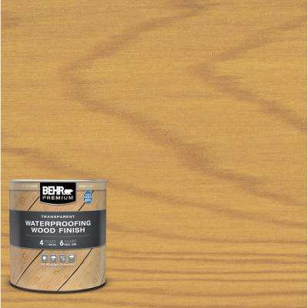 1 qt. Clear Transparent Waterproofing Exterior Wood Finish