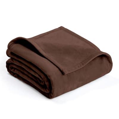 Plush Sage Polyester Full/Queen Blanket