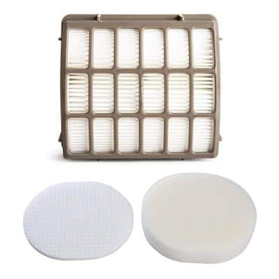 Replacement Filter Kit fits Shark Navigator Pro NV60, NV70, NV80, NV90, UV420, XFF80 and XHF80 Vacuum Cleaners