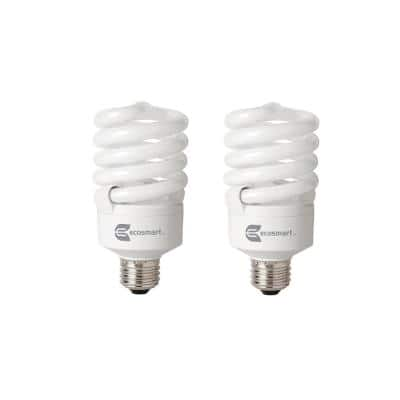 100-Watt Equivalent A19 Spiral Dimmable TruDim CFL Light Bulb Daylight (6500K) (2-Pack)