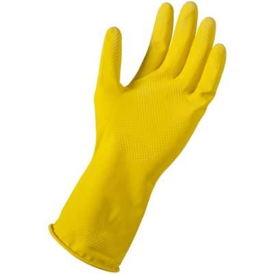 Small/Medium Yellow Latex Reusable Gloves (144-Pair)