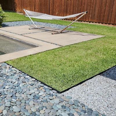4 ft. x 14-Gauge x 4 in. Black Steel Landscaping Edging