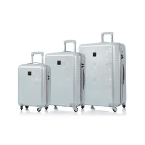 CHAMPS Iconic 28 in.,24 in., 20 in. Silver Hardside Luggage Set with Spinner Wheels (3-Piece)