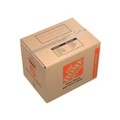 21 in. L x 15 in. W x 16 in. D Heavy-Duty Medium Moving Box with Handles