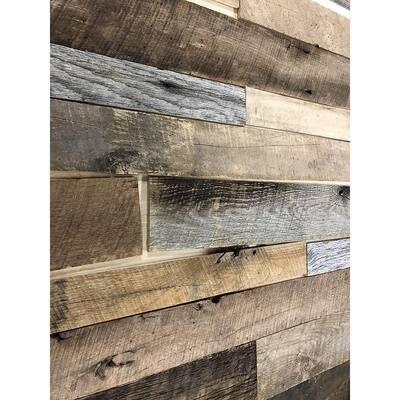 3/8 in. x 4 ft. Multi-Width Multi-Color Kiln Dried Barnwood Kit (10.2 sq. ft.)