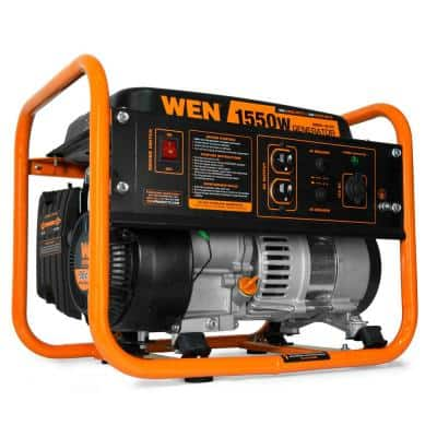 4-Stroke 98 cc 1550-Watt Portable Gas-Powered Generator, CARB Compliant