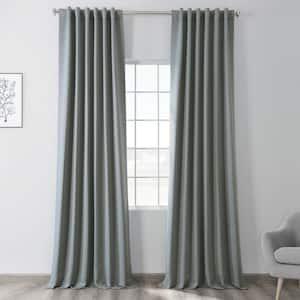 Blue Fir Rod Pocket Blackout Curtain - 50 in. W x 84 in. L