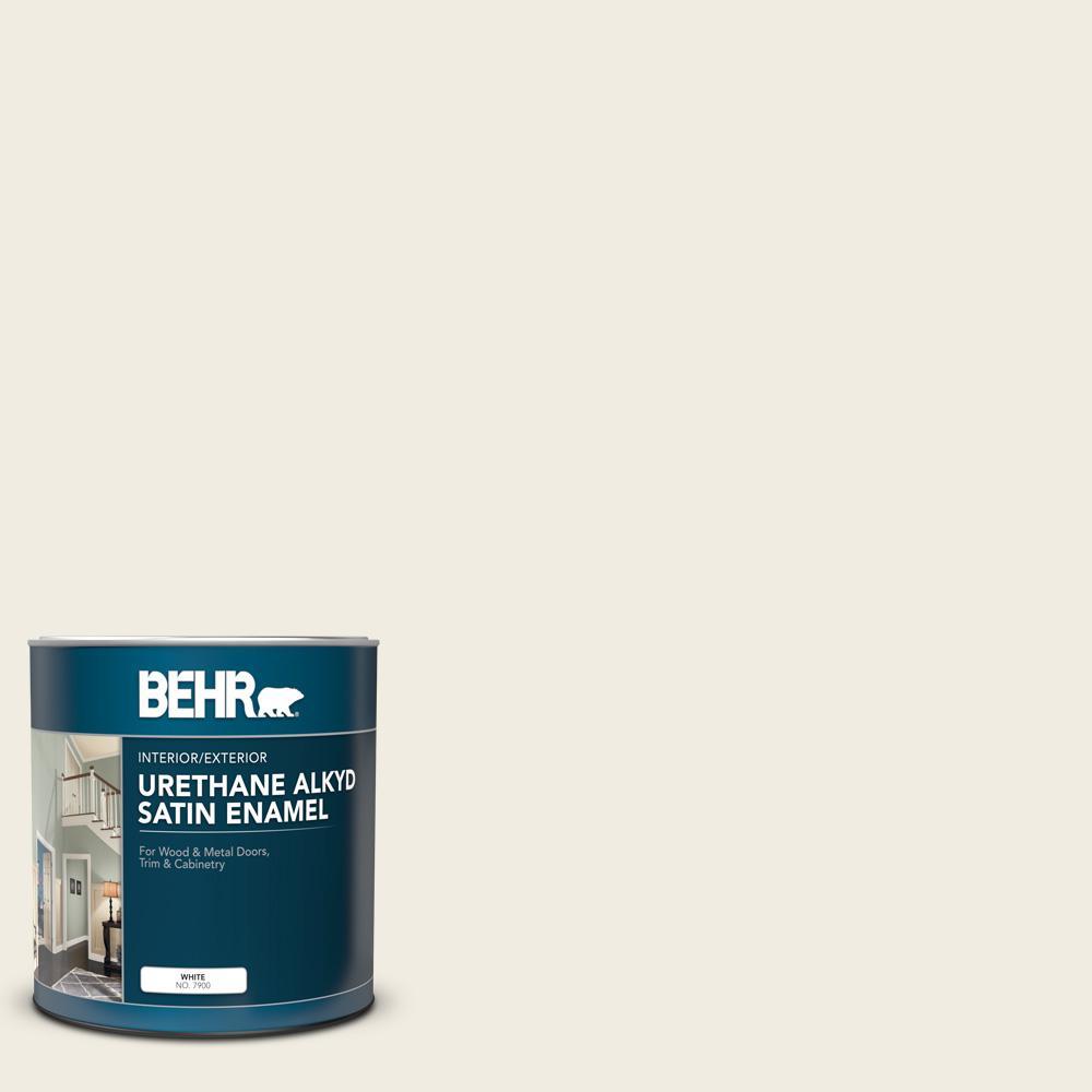 1 qt. #12 Swiss Coffee Satin Enamel Urethane Alkyd Interior/Exterior Paint