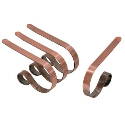 Original MantleClip Brushed Copper Stocking Holder (4-Pack)