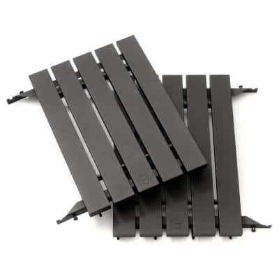 Classic Joe Aluminum Side Shelves in Black