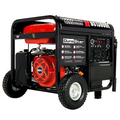 13000-Watt/10500-Watt Push Button Start Gasoline Powered Portable Generator Transfer Switch and Home Backup Ready