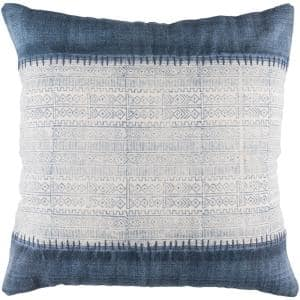 Tajo Navy Graphic Polyester 30In. x 30In. Throw Pillow