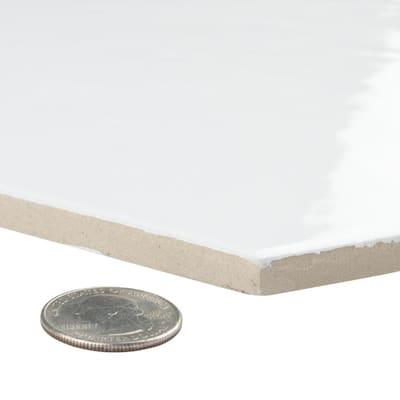 Hexatile Glossy Blanco 7 in. x 8 in. Ceramic Wall Tile (7.67 sq. ft. / case)