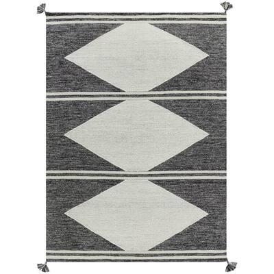 Maricopia Grey 5 ft. x 7 ft. Rectangle Diamond Indoor Area Rug