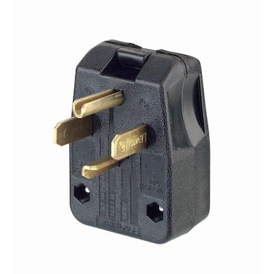 30/50 Amp 3-Pole Angle Plug NEMA 14-30P/14-50P, Black
