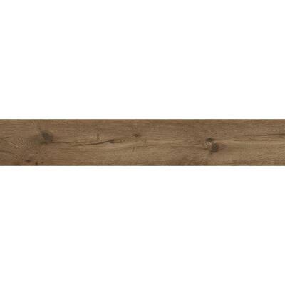 Rathwood Brown 7.5 in. x 47 in. Matte Porcelain Floor Tile (14.99 sq. ft. / carton)