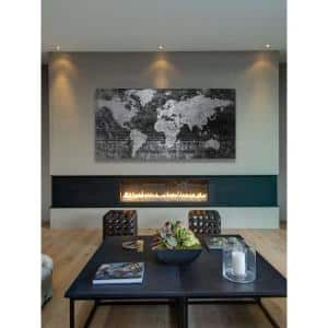 22.5 in. H x 45 in. W ''Lost in the World 2'' by Parvez Taj Printed Brushed Aluminum Wall Art