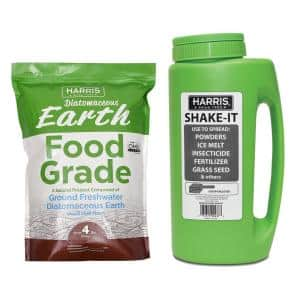 4 lbs. (64 oz.) Diatomaceous Earth Food Grade 100% and Shaker Applicator Value Pack