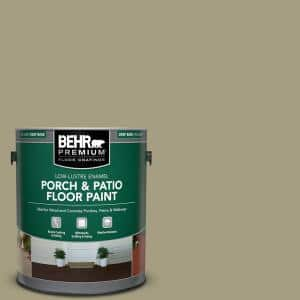 1 gal. #MS-51 Sage Moss Low-Lustre Enamel Interior/Exterior Porch and Patio Floor Paint