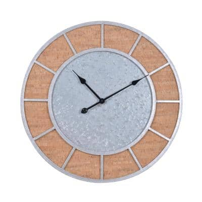 Latham Galvanized and Cork Wall Clock