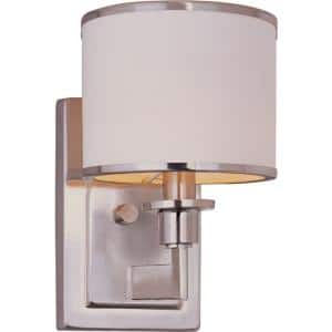 Nexus 1-Light  Satin Nickel Sconce