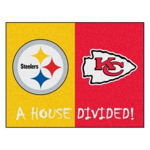 Fanmats Nfl House Divided Packers Cowboys 33 75 In X 42 5 In House Divided Mat Area Rug 21804 The Home Depot