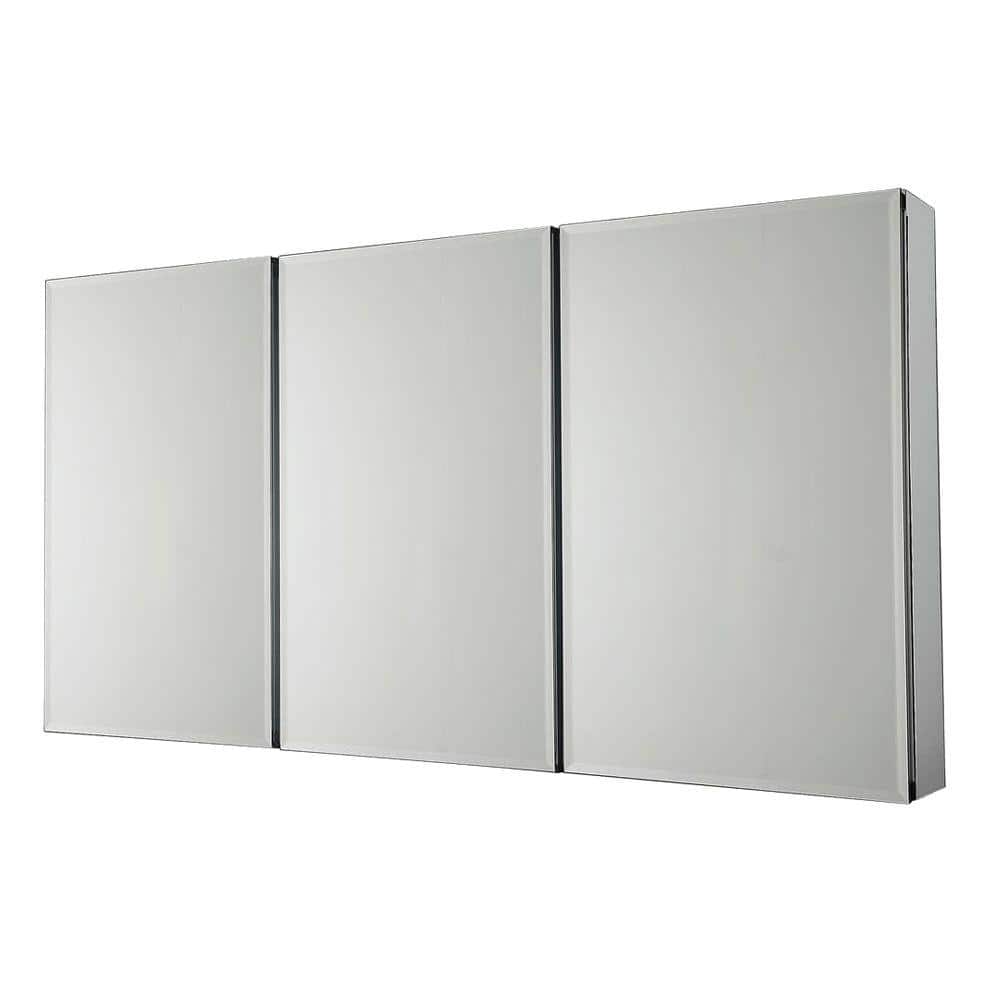 Pegasus 36 In X 31 In Recessed Or Surface Mount Tri View Bathroom Medicine Cabinet With Beveled Mirror Sp4589 The Home Depot