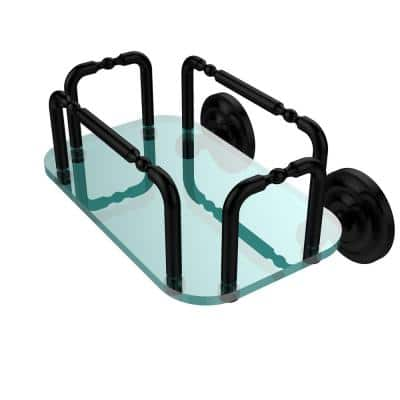 Que New Wall Mounted Guest Towel Holder in Matte Black