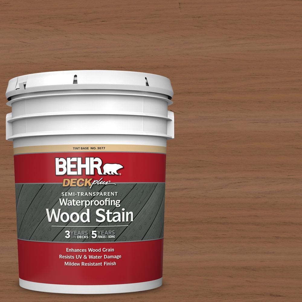 5 gal. #ST-152 Red Cedar Semi-Transparent Waterproofing Exterior Wood Stain