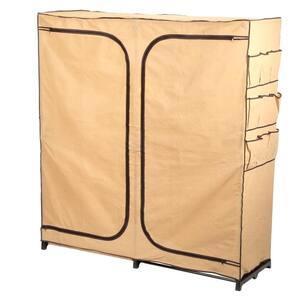 Khaki Steel Portable Closet (60 in. W x 64 in. H)