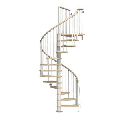 Phoenix 63 in. White Spiral Staircase Kit