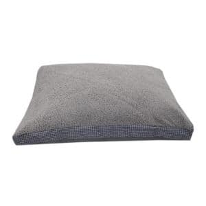 Sherpa Checkered Gusset Gray Bed