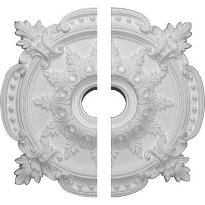 28-3/8 in. x 3-3/4 in. x 1-5/8 in. Benson Classic Urethane Ceiling Medallion, 2-Piece (Fits Canopies up to 6-1/2 in.)
